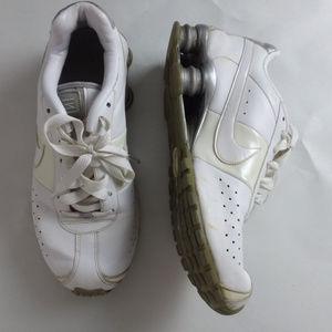 White NIKE SHOX Women's Size 9 Running Shoes